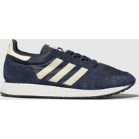 Adidas-Navy-and-White-Forest-Grove-Trainers