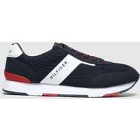 Tommy Hilfiger Navy & White Knitted Mix Sneaker Trainers