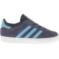 Adidas Navy & Pl Blue Gazelle Boys Toddler Trainers