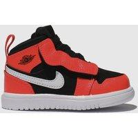 Nike Jordan Black & Red Jordan 1 Mid Trainers Toddler