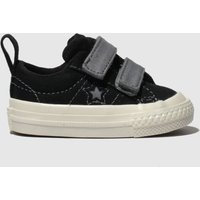 Converse Black & Grey One Star 2v Lo Trainers Toddler