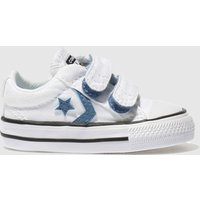 Converse White & Blue Star Player 2v Trainers Toddler