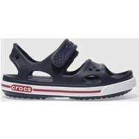 Crocs Navy & White Crocband Sandal Boys Junior Sandals