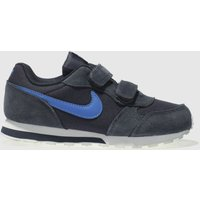 Nike Navy Md Runner 2 Boys Junior Trainers
