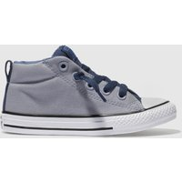 Converse Grey & Navy All Star Street Mid Boys Junior Trainers
