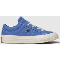 Converse Blue One Star Lo Trainers Junior