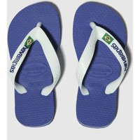 Havaianas Blue Brasil Logo Boys Junior Sandals