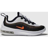 Nike White & Orange Air Max Axis Trainers Junior