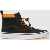 Vans Black & Orange Sk8-hi Mte Trainers Youth