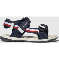 Tommy Hilfiger Navy & White Velcro Sandal Sandals Youth