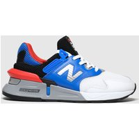 New Balance White & Blue 997 Trainers Youth