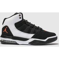 Nike Jordan White & Black Max Aura Trainers Youth