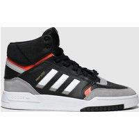 Adidas Black & Grey Drop Step Trainers Youth