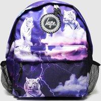 Hype Navy Backpack With Bottle Holder
