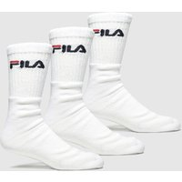 Accessories Fila White Crew Tennis
