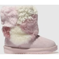 Ugg Pale Pink Classic Short Ii Patchwork Boots Toddler
