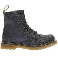 dr martens black delaney glitter boot Girls Junior Boots