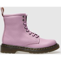 Dr Martens Pink Delaney Lace Boot Girls Junior Boots