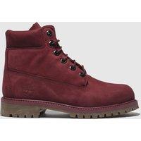 Timberland Burgundy Timb 6 Inch Premium Boots Youth
