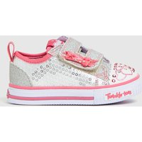Skechers Silver Shuffles Itsy Bitsy Trainers Toddler