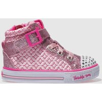 Skechers Pink Shuffles Twinkle Charm Trainers Toddler