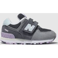 New Balance Grey & Navy 574 Trainers Toddler
