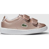 Lacoste Pink Carnaby Evo Trainers Toddler