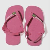 havaianas pink brasil logo ii Girls Toddler Sandals
