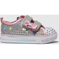 Skechers Silver Shuffle Lite Mini Mermaid Trainers Toddler