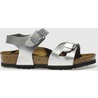 Birkenstock Silver Rio Girls Toddler Sandals