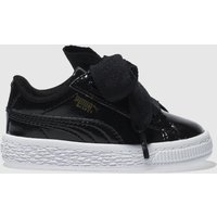 puma black basket heart glam Girls Toddler Trainers