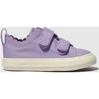 Converse Purple All Star 2v Lo Trainers Toddler