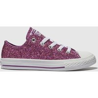 Converse Purple All Star Ox Glitter Trainers Junior