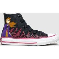 Converse Black & Purple All Star Hi Ii Anna X Frozen Trainers Junior