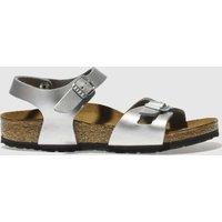 Birkenstock Silver Rio Girls Junior Sandals