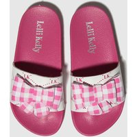 Lelli Kelly White & Pink Genny Sandals Junior