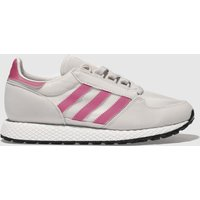 Adidas Light Grey & Pink Forest Grove Trainers Youth
