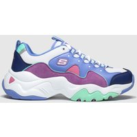 Skechers White & Purple Dlites 3.0 Zenway Trainers Youth