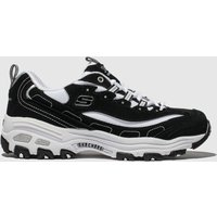 Skechers Black & White Dlites Biggest Fan Trainers Youth