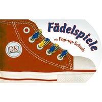 Fädelspiele mit Pop-up-Schuh - mit farbigen Schnürsenkel