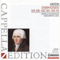 Cappella Coloniensis - Hans-Martin Linde: Joseph Haydn - Symphonien Nr. 66, 90, 91