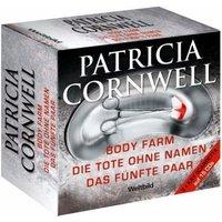Patricia Cornwell Box: Body Farm / Die Tote ohne Namen / Das fünfte Paar - Patricia Cornwell [15 Audio CDs]