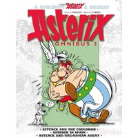 Asterix Omnibus - Volume 5: Asterix and the Cauldron, Asterix in Spain, Asterix and the Roman Agent  - Rene Goscinny, Uderzo [Hardback]