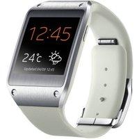 Samsung Galaxy Gear 41,4 mm zilver met silicone bandje beige
