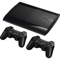 Sony PlayStation 3 super slim 12 GB SSD  [incl. 2 draadloze controllers] zwart
