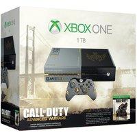 Microsoft Xbox One grijs 1TB [Special Call of Duty Edition incl. draadloze controller, zonder spel] zwartzilver