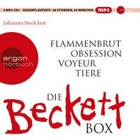 Die weiße Beckett Box: Flammenbrut / Obsession / Voyeur / Tiere - Simon Beckett [4 mp3 CDs]