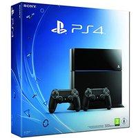 Sony PlayStation 4 (500 GB)  [incl. 2 draadloze controllers] zwart