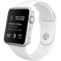 Apple Watch Sport 42 mm zilver met sportbandje wit [wifi]