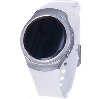 Samsung Gear S2 30,2 mm zilver met silicone bandje parelwit [wifi]